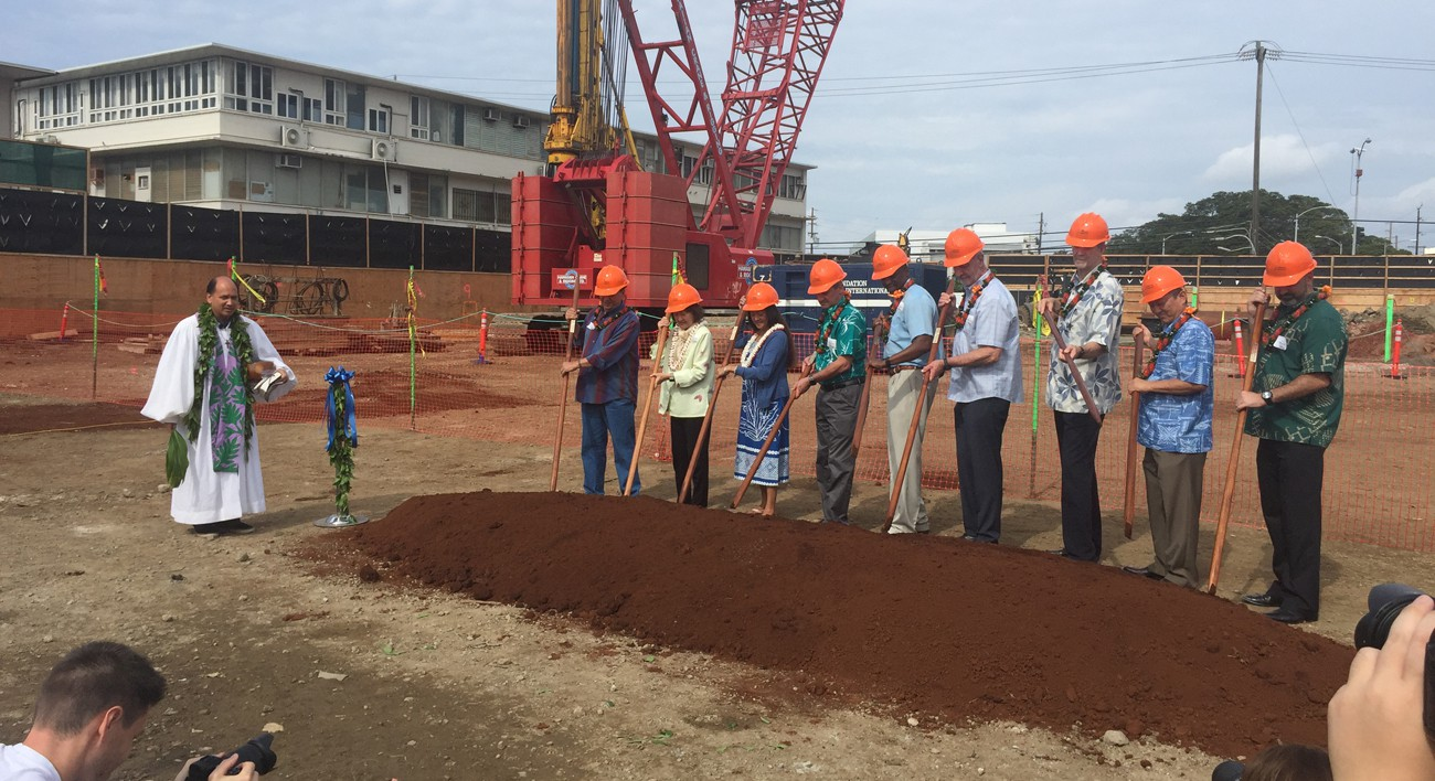 Hale Mahana Groundbreaking and Blessing-February 11, 2017-Lowney Architecture